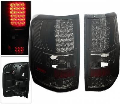 Headlights & Tail Lights - Led Tail Lights - 4 Car Option - Ford F150 4 Car Option LED Taillights - Smoke - LT-FF15004LEDSM-6
