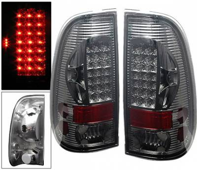 Headlights & Tail Lights - Led Tail Lights - 4 Car Option - Ford F150 4 Car Option LED Taillights - Smoke - LT-FF97SALEDSM-6