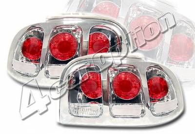 Headlights & Tail Lights - Tail Lights - 4 Car Option - Ford Mustang 4 Car Option Altezza Taillights - Chrome - LT-FM96A-KS