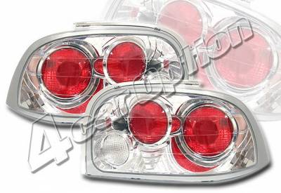 Headlights & Tail Lights - Tail Lights - 4 Car Option - Ford Mustang 4 Car Option Altezza Taillights - Chrome - LT-FM96A-YD