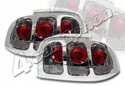 Headlights & Tail Lights - Tail Lights - 4 Car Option - Ford Mustang 4 Car Option Altezza Taillights - Smoke - LT-FM96B-KS