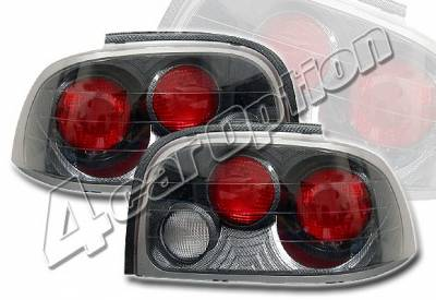 Headlights & Tail Lights - Tail Lights - 4 Car Option - Ford Mustang 4 Car Option Altezza Taillights - Carbon Fiber Style - LT-FM96F-YD