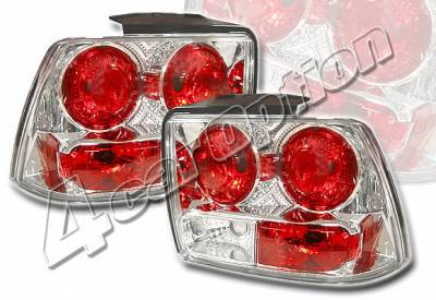 Headlights & Tail Lights - Tail Lights - 4 Car Option - Ford Mustang 4 Car Option Altezza Taillights - Chrome - LT-FM99A-YD