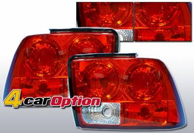 Headlights & Tail Lights - Tail Lights - 4 Car Option - Ford Mustang 4 Car Option Altezza Taillights - Red - LT-FM99R-YD