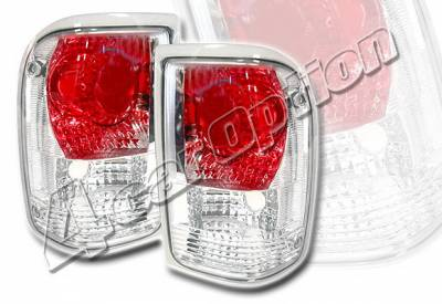 Headlights & Tail Lights - Tail Lights - 4 Car Option - Ford Ranger 4 Car Option Altezza Taillights - Chrome - LT-FR93A-KS