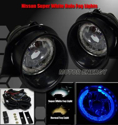 Headlights & Tail Lights - Fog Lights - Custom - Super Blue Halo Ring LED Fog Lights
