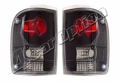 Headlights & Tail Lights - Tail Lights - 4 Car Option - Ford Ranger 4 Car Option Altezza Taillights - Black - LT-FR93JB-KS