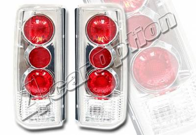 Headlights & Tail Lights - Tail Lights - 4 Car Option - GMC Safari 4 Car Option Altezza Taillights - Chrome - LT-GA85A-KS