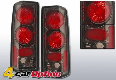 Headlights & Tail Lights - Tail Lights - 4 Car Option - GMC Safari 4 Car Option Altezza Taillights - Gunmetal - LT-GA85G-YD