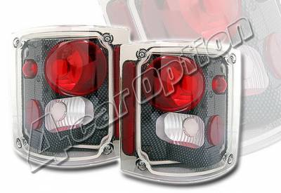Headlights & Tail Lights - Tail Lights - 4 Car Option - GMC C10 4 Car Option Altezza Taillights - Carbon Fiber Style - LT-GC73F-KS