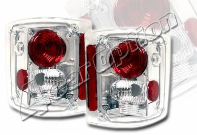 Headlights & Tail Lights - Tail Lights - 4 Car Option - GMC C10 4 Car Option Altezza Taillights - Chrome - LT-GC87A-KS