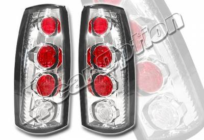 Headlights & Tail Lights - Tail Lights - 4 Car Option - GMC C10 4 Car Option Altezza Taillights - V1 - Chrome - LT-GC88A1-YD