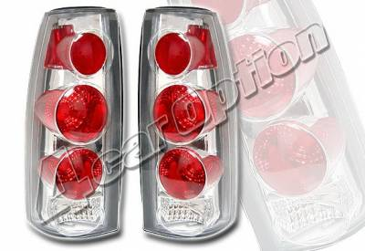 Headlights & Tail Lights - Tail Lights - 4 Car Option - GMC C10 4 Car Option Altezza Taillights - V2 - Chrome - LT-GC88A2-KS