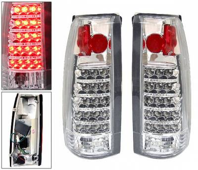 Headlights & Tail Lights - Led Tail Lights - 4 Car Option - Chevrolet C10 4 Car Option LED Altezza Taillights - Chrome - LT-GC88AC-LED