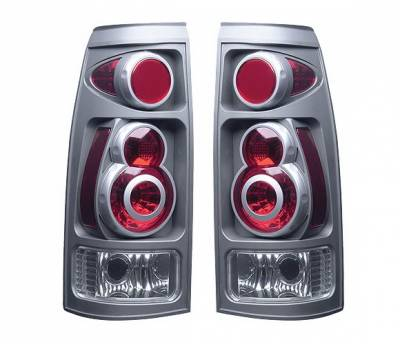 Headlights & Tail Lights - Tail Lights - 4 Car Option - Chevrolet CK Truck 4 Car Option 3D Style Taillights - Titanium - LT-GC88DT-9