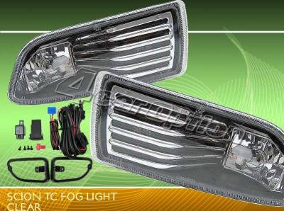 Headlights & Tail Lights - Fog Lights - Custom - JDM Black Clear Fog Lights