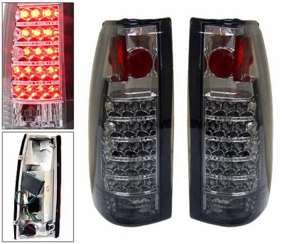 Headlights & Tail Lights - Led Tail Lights - 4 Car Option - Chevrolet C10 4 Car Option LED Altezza Taillights - Smoke - LT-GC88SM-LED