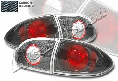 Headlights & Tail Lights - Tail Lights - 4 Car Option - Chevrolet Cavalier 4 Car Option Altezza Taillights - Carbon Fiber Style - LT-GCA95F-YD