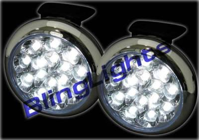 Headlights & Tail Lights - Fog Lights - Custom - White LED Fog Lights