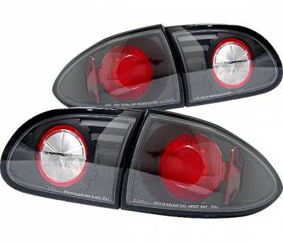 Headlights & Tail Lights - Tail Lights - 4 Car Option - Chevrolet Cavalier 4 Car Option Altezza Taillights - Black - LT-GCA95JB-YD