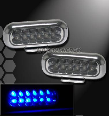 Headlights & Tail Lights - Fog Lights - Custom - Blue 12 Led Fog Lights