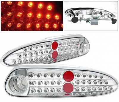 Headlights & Tail Lights - Led Tail Lights - 4 Car Option - Chevrolet Camaro 4 Car Option LED Taillights - Chrome - LT-GCC93LEDC-KS