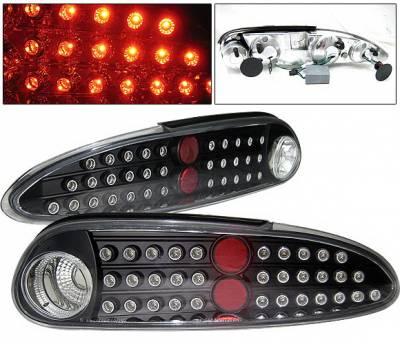Headlights & Tail Lights - Led Tail Lights - 4 Car Option - Chevrolet Camaro 4 Car Option LED Taillights - Black - LT-GCC93LEDJB-KS