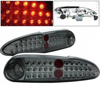 Headlights & Tail Lights - Led Tail Lights - 4 Car Option - Chevrolet Camaro 4 Car Option LED Taillights - Smoke - LT-GCC93LEDSM-KS