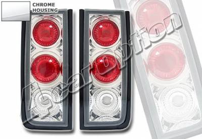 Headlights & Tail Lights - Tail Lights - 4 Car Option - Hummer H2 4 Car Option Altezza Taillights - Chrome - LT-GHH202A-YD