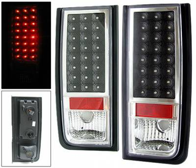Headlights & Tail Lights - Led Tail Lights - 4 Car Option - Hummer H2 4 Car Option LED Taillights - Black - LT-GHH202LEDJB