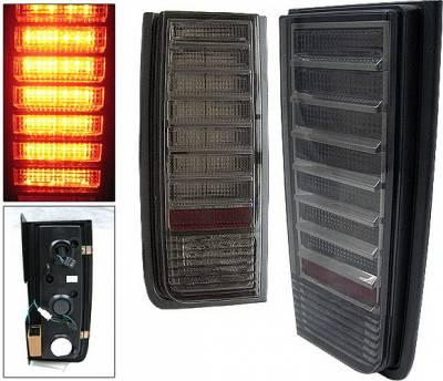 Headlights & Tail Lights - Led Tail Lights - 4 Car Option - Hummer H2 4 Car Option LED Taillights - Smoke - LT-GHH202LEDSM-KS