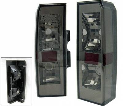 Headlights & Tail Lights - Tail Lights - 4 Car Option - Hummer H3 4 Car Option Taillights - Red & Smoke - LT-GHH305RSM-5