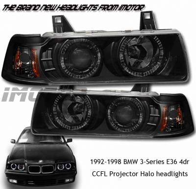 Headlights & Tail Lights - Headlights - Custom - BMW CCFL Projector Halo Lights