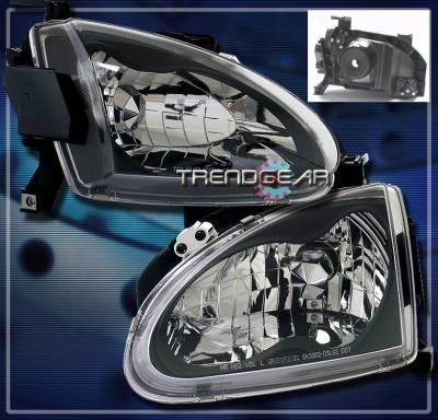 Headlights & Tail Lights - Headlights - Custom - Chrome Crystal Head Lights