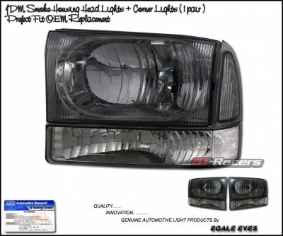 Headlights & Tail Lights - Headlights - Custom - JDM Smoke Headlights With Corner Lights