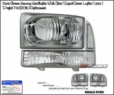 Headlights & Tail Lights - Headlights - Custom - JDM Chrome Headlights With Corner Lights