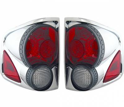 Headlights & Tail Lights - Tail Lights - 4 Car Option - Chevrolet S10 4 Car Option 3D Style Taillights - Chrome - LT-GS94DA-9