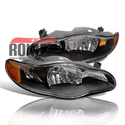Headlights & Tail Lights - Headlights - Custom - CHEVY MONTE CARLO BLACK HEAD LIGHTS