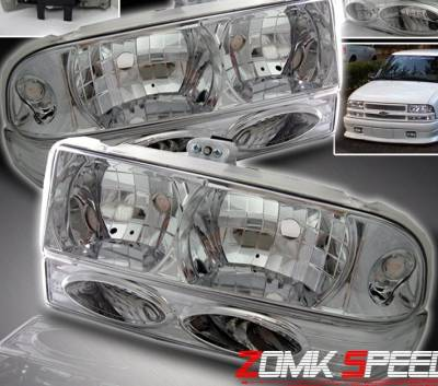 Headlights & Tail Lights - Headlights - Custom - Crystal Headlights With Bumper Lights
