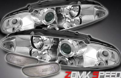 Headlights & Tail Lights - Headlights - Custom - Chrome Halo Pro Headlights With Bumper Lights