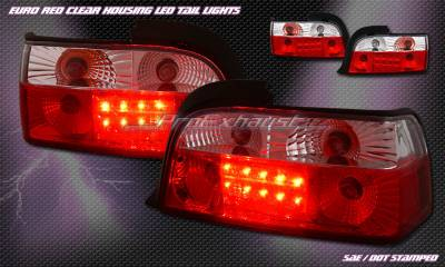Headlights & Tail Lights - LED Tail Lights - Custom - 2D RED LED Tail Lights