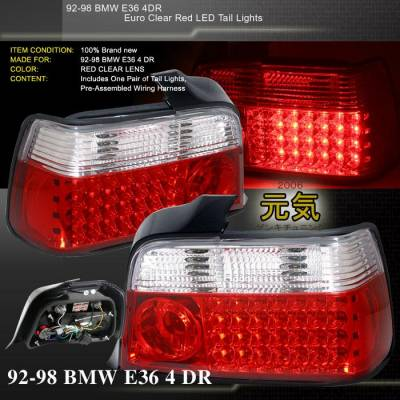 Headlights & Tail Lights - Led Tail Lights - Custom - RED Clear LED Tail Lights
