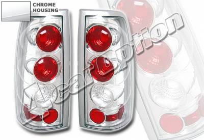 Headlights & Tail Lights - Tail Lights - 4 Car Option - Chevrolet Silverado 4 Car Option Altezza Taillights - Chrome - LT-GSV03A-YD