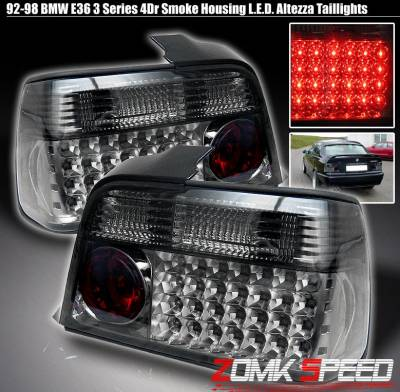 Headlights & Tail Lights - Led Tail Lights - Custom - Smoke Housing LED Altezza Tail Lights