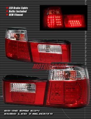 Headlights & Tail Lights - Led Tail Lights - Custom - Euro Crystal LED Tail Lights