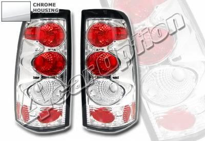 Headlights & Tail Lights - Tail Lights - 4 Car Option - Chevrolet Silverado 4 Car Option Altezza Taillights - Version 2 - Chrome - LT-GSV99A2-KS