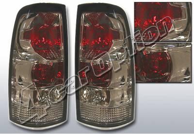 Headlights & Tail Lights - Tail Lights - 4 Car Option - Chevrolet Silverado 4 Car Option Altezza Taillights - Smoke - LT-GSV99B-KS