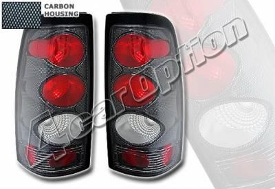 Headlights & Tail Lights - Tail Lights - 4 Car Option - Chevrolet Silverado 4 Car Option Altezza Taillights - Carbon Fiber Style - LT-GSV99F-KS