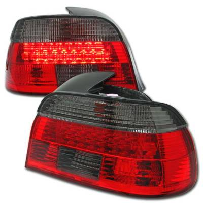 Headlights & Tail Lights - Led Tail Lights - Custom - RED Smoked LED Tail Lights