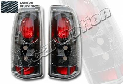Headlights & Tail Lights - Tail Lights - 4 Car Option - Chevrolet Silverado 4 Car Option Altezza Taillights - Carbon Fiber Style - LT-GSV99F-YD